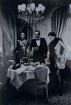 Lot #1218: HELMUT NEWTON - Hotel Suite I, after Dinner, Paris - Original vintage photolithograph