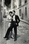 Lot #926: HELMUT NEWTON - Rue Aubriot, Fashion Model and Nude, Paris, 1975 - Original photolithograph