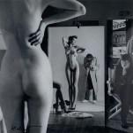 Lot #182: HELMUT NEWTON - Self-Portrait with Wife and Models, Paris, Vogue Hommes - Original vintage photolithograph