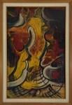 Lot #1389: DAVID ALFARO SIQUEIROS - Cara en el infierno - Pyroxylin on wood