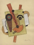 Lot #1362: JOSEPH CSAKY - Composition - Watercolor and ink drawing on paper