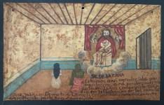 Lot #769: MEXICAN SCHOOL (EX-VOTO ARTIST) 20TH CENTURY - Vintage Ex-Voto/Retablo: Señor de la Caña - Oil on tin