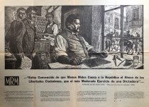 Lot #483: LEOPOLDO MENDEZ - Homenaje a Posada - Direct letterpress printing from a linograph