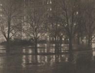 Lot #1715: ALFRED STIEGLITZ - Reflections, Night: New York - Original vintage photolithograph