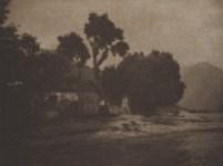 Lot #1217: GIULIO GATTI-CASAZZA - House by the Lake - Original vintage photolithograph