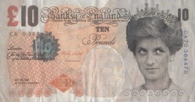 Lot #599: BANKSY - Di-faced Tenner - Color offset lithograph