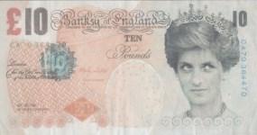 Lot #2173: BANKSY [d'apres] - British £10 Note, Di-faced Tenner - Color print
