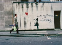 Lot #704: BANKSY - Balloon Fight - Color offset lithograph