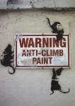 Lot #728: BANKSY - Anti-Climb Paint - Color offset lithograph