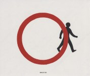 Lot #2190: BANKSY [imputee] - Better Out Than In (aka Stepping Out) - Color offset lithograph printing