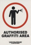 Lot #715: BANKSY - Authorised Graffiti Area - Color offset lithograph printing