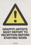 Lot #1246: BANKSY - Graffiti Artists Must Report… - Color offset lithograph printing