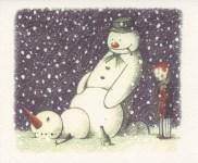 Lot #203: BANKSY - Rude Snowman - Color offset lithograph