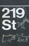 Lot #142: KEITH HARING - Subway drawings: Radiant Baby [and] Barking Dog [and] Serpent - White acrylic drawings on enameled steel sign
