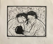Lot #1603: FRANCISCO LIMON - The Boxers - Original lithograph