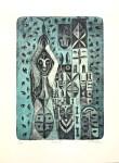Lot #598: KARIMA MUYAES - Diosa - Original color lithograph