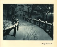 Lot #1651: ADOLF FASSBENDER - Snow Caps - Original vintage photogravure