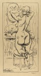 Lot #2208: RUDOLF BAUER - At the Mirror - Lithograph